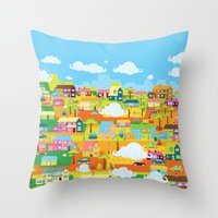 the neighbourhood Throw Pillows featuring Neighbourhood by James Thornton