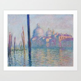 Le Grand Canal by Claude Monet Art Print