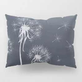Black and White Wishing upon a Dandelion Pillow Sham