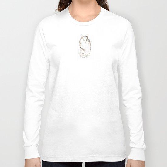 Silent Enquiry-white&sepia Long Sleeve T-shirt
