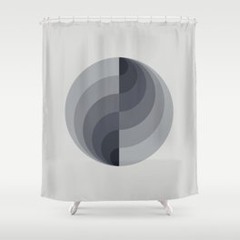 Marble Gray Globe LT Shower Curtain