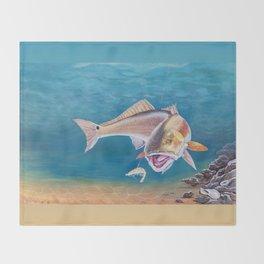 Fish On! Throw Blanket