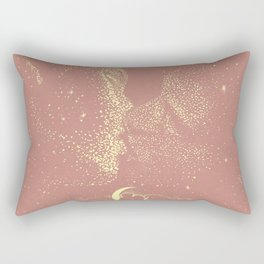 Starcrossed | Peach Lithograph Rectangular Pillow