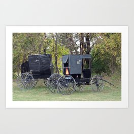 Amish Buggies Art Print