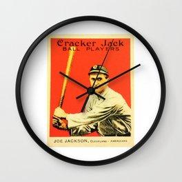 Joe Jackson Cracker Jack ball Players Wall Clock