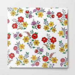 Hungarian floral repeat 1 Metal Print