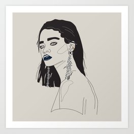 Rihanna blue Art Print