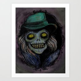 Hatbox Ghost (portrait) Art Print