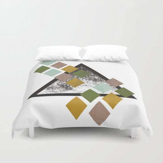Triangle and diamonds Duvet Cover