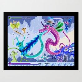 Princess Planet Boss Battle 6 - Hot Licks Art Print