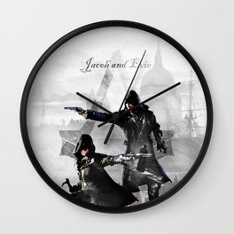 Jacob and Evie Frye Double Exposure Wall Clock