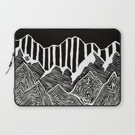 Geode Mountains Black and White Laptop Sleeve