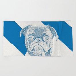 French Bully Beach Towel