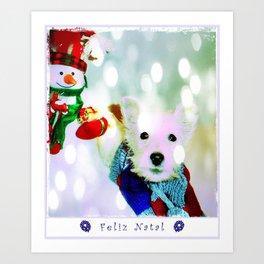 Feliz Natal Art Print