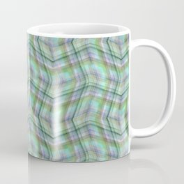 Overlapping lines in turquoise. Coffee Mug