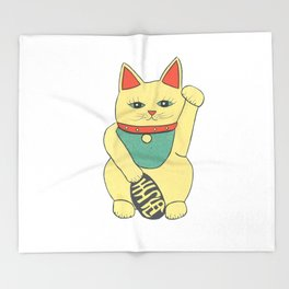 Lucky Cat Throw Blanket