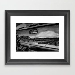 Through the Windshield Framed Art Print