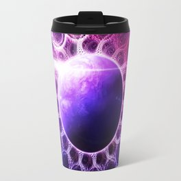 Deep Dream Fractal Mandala - Deep Space Galaxy Dreamer Travel Mug