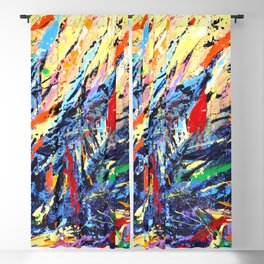 Abstract Art - Colorful Trees Blackout Curtain