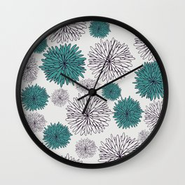 Blue Dandilions Wall Clock