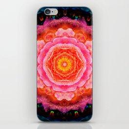 Mystical Rose Mandala iPhone Skin