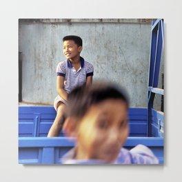 Laos Boys Metal Print