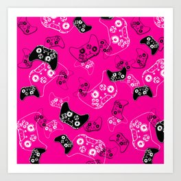 Video Game Pink Art Print