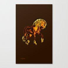 HORSES-Golden Palomino Canvas Print