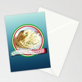 Food. Rolled spaghetti. Italian taste. Stationery Cards
