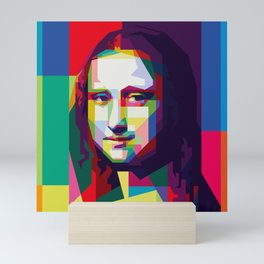 Monalisa Geometric WPAP Art Mini Art Print