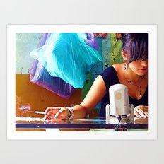 Pretty Girl, Ugly Habit Art Print