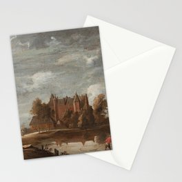 DAVID TENIERS D.Y FOLLOWER OF, THE THREE TOWERS AT PERK, BELGIUM Stationery Cards