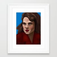 agent carter Framed Art Prints featuring Agent Carter by Forticule