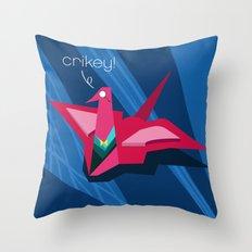 Crikey! Throw Pillow