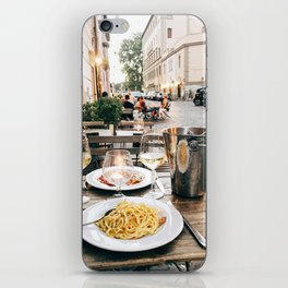 Dinner in Rome iPhone Skin