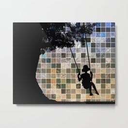 Tree Swing Metal Print