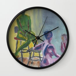 Warm and Cool Figures Wall Clock
