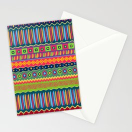 African abstract geometric pattern Stationery Cards