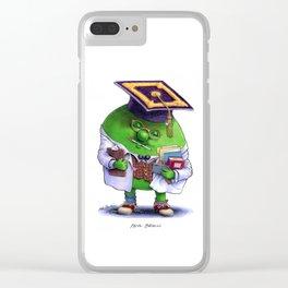 Pea Brain Clear iPhone Case