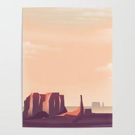 Desert Canyons Poster