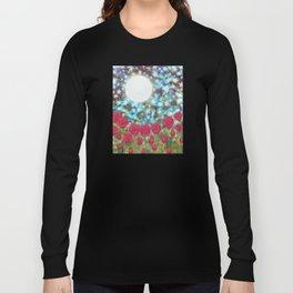 the moon, stars, fireflies, & roses Long Sleeve T-shirt