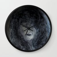 imagerybydianna Wall Clocks featuring sunday by Imagery by dianna