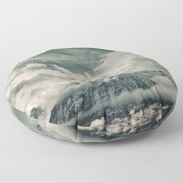 Cloud Mountain in the Canadian Wilderness Floor Pillow