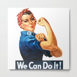 WE CAN DO IT Pop Art Metal Print