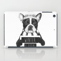 snowboarding iPad Cases featuring Winter is boring by Balazs Solti