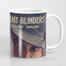 Peaky Blinders poster, Cillian Murphy is Thomas Shelby, Adrien Brody is Luca Changretta Coffee Mug