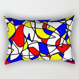 Mondrian Sneeze Rectangular Pillow