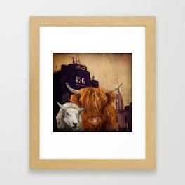 Sheep Cow 123 Framed Art Print