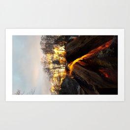 Fire prayers and setting suns Art Print