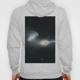 Colliding galaxies, Mice Galaxies, spiral galaxies in constellation Coma Berenices. Hoody